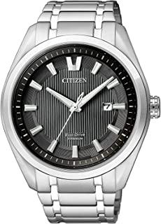 Citizen Herren-Uhren Analog Quarz, eco-Drive Titan 32003249