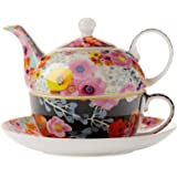 Maxwell & Williams DX0183 Bloems 茶具,适用于1人骨瓷,多色,500毫升,礼盒