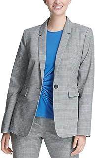 DKNY 女式格子单扣西装外套