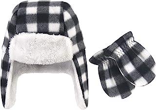 Hudson Baby 中性款抓绒捕手帽和手套套装