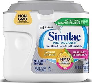 Abbott 雅培 Similac 铂优恩美力 Pro-Advance 含铁的婴幼儿奶粉,带有2'-FL HMO,有益于人体,23.2盎司,658克