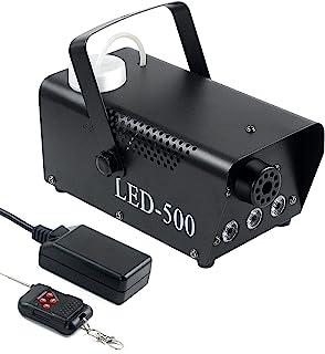 雾机(雾机带灯光混合渐变)(500W 无雾机带流体)适用于室内派对、婚礼、万圣节、LED 灯秀和迷你烟机雾机