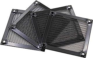 Augiimor 4 件 80 毫米电脑风扇过滤器烧烤,超细风扇过滤器铝制风扇防尘过滤器防尘保护套电脑网(黑色)