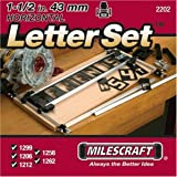 Milescraft 2202 2.54-1.27 cm 水平字符模板套装 适用于里程碑标志制作系统 1包 2202