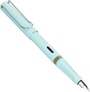 LAMY 凌美 钢笔 EF 极细字 safari 狩猎系列 马卡龙色 L36BM-EF 两用式 限定 蓝色马卡龙