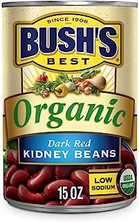 Bush's Best Organic Dark Red Kidney Beans, 15 oz (12 cans)