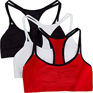 Fruit of the Loom Women's Cotton Pullover Sport Bra(Pack of 3)