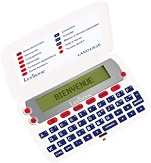 LEXIBOOK D850FR 法语词典大定义共轭拼写校正器,电池供电 白色/红色