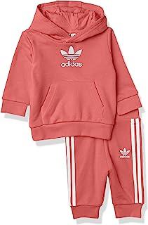 adidas 阿迪达斯 Originals 婴儿三叶草连帽衫套装, 朦胧玫瑰, 2T