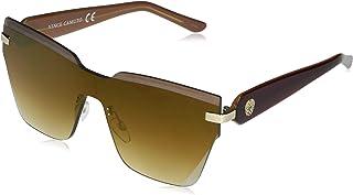 Vince Camuto 女式 VC874 超大无框猫眼防护太阳镜,带金属标志,* 防紫外线,72 毫米