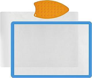 Appliqué 保险丝垫(43.18 厘米 x 60.96 厘米),硅胶垫,用于贴花和工艺品创作,绗缝硅胶应用保险丝垫,包括用于热压的不粘压片和硅胶铁垫垫