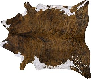 ecowhides Brindle 白肚巴西牛皮隐藏地毯真牛皮皮皮皮质地毯 适用于家用