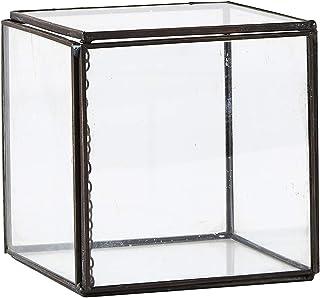 Vibilla Collection) 玻璃保护壳 透明 L 10 W 10 H 10 cm 盒子 - Glass Metal 340207