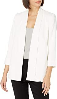 HALSTON 女式围巾前外套