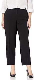 Kasper 女式加大码弹力绉纱弹性长裤