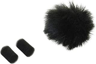 Rycote 065501 领夹式防风罩 - 黑色(2件装)