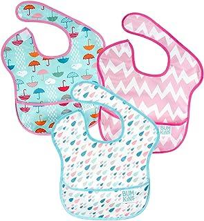 Bumkins 防水围嘴 3 件装(6-24 个月) Umbrella/Raindrop/Pink Chevron 6-24 个月