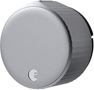 August Home Wi-Fi,(第 4 代)智能锁 – 几分钟内适合您的现有门栓,银色