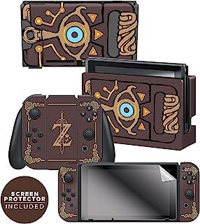 """Controller Gear 任天堂 Switch 皮肤和屏幕保护膜套装,任天堂官方* - 塞尔达传说:荒野之息:""""Sheikah Slate"""" - Nintendo Switch"""