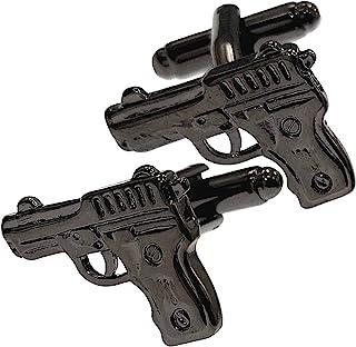 Thot Ra Gun Gunmetal 黑色 Desing 男士袖扣 Mod A 893