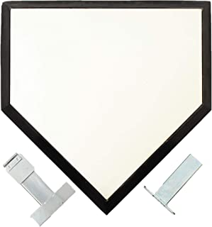 专业钢质主板 - 带锚座的棒球底座适用于裁判和面糊 - 团队体育联盟用品适用于挥杆练习、击球笼、垒球、出球和足球