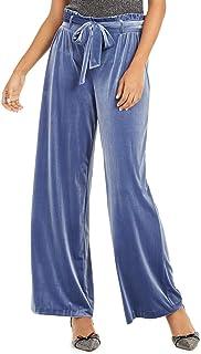 INC International Concepts 天鹅绒阔腿纸包裤,Inkberry XL 码