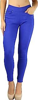 ToBeInStyle 女士时尚弹性斜纹五口袋紧身裤