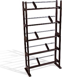 Atlantic Element 媒体存储架-至多可容纳230 张Cd或150 张Dvd,具有宽脚的现代木材和金属设计,以提高稳定性,咖啡色 PN35535601