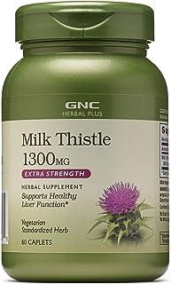 gnc herbal plus milk thistle 1300 mg 60 caplets