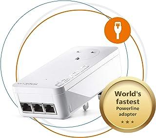 Devolo Magic 2-2400 LAN三重:稳定家庭工作,附加电源线适配器,高达2400 Mbps,适用于您的电力线家庭网络,3x Gb LAN端口,适合在线游戏,4k/8k 超高清流