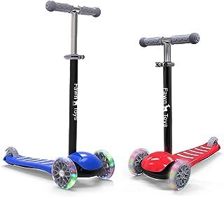 Fawn Toys 3 轮儿童滑板车闪烁车轮/倾斜转/室内/室外 2-6 岁