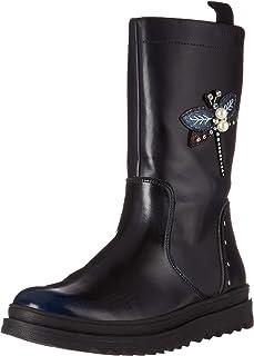 Geox 儿童 Gilly Jaw Girl 3 凸耳鞋底高筒靴,带保暖衬里中筒靴