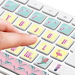 Mustard 台式机笔记本电脑键盘贴纸贴花 - 各种颜色热带字体
