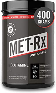 MET-Rx L-Glutamine Powder, 400 g, Post-Workout Amino Acid Nutritional Supplement, Add to Workout Recovery Protein Shakes &...