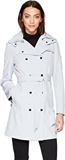 Calvin Klein 卡爾文·克萊恩 女式 連帽雙排扣雨衣