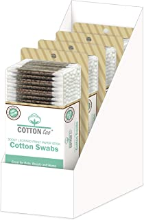 Cotton Too 300 支棉签,带印花纸棒,4 件装