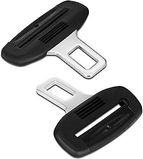 CHIIDIIKE 2 件套汽车座椅皮带夹汽车座椅皮带消声器自动金属插入报警塞通用汽车*皮带扣插头适用于大多数车辆(黑色)