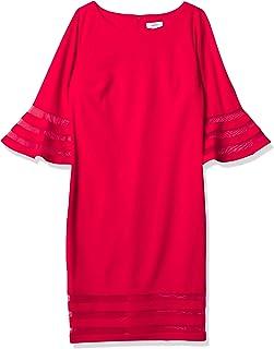 Calvin Klein 卡尔文·克莱恩 女式 无袖紧身连衣裙 starburst细节装饰