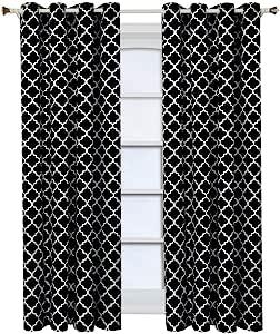 "Royal Hotel Meridian 索环遮光窗帘板,一片/2 片装 黑色 104""X108"" Pair unknown"