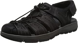 Clarks 男士Brixby Cove系带凉鞋