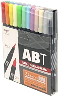 Tombow 蜻蜓铅笔 双刷笔 ABT 24色套装 基本款 AB-T24CBA