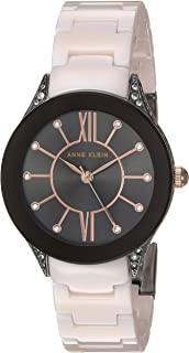 Anne Klein Women's Swarovski Crystal Accented Ceramic Bracelet Watch