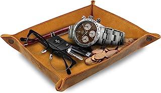 Londo – 真皮托盘收纳盒 – 实用储物盒,适用于钱包、手表、钥匙、硬币、手机和办公设备
