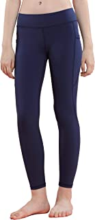 Willit 女孩运动舞蹈紧身裤青少年儿童运动瑜伽跑步紧身裤带口袋