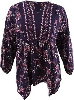 Style & Co. 女式加大码佩斯利印花衬衫