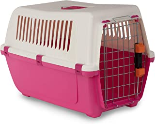 MP Bergamo 运输篮 Vision Travel 55 金属门 + 猫锁,10 千克,粉红色
