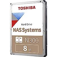Toshiba 东芝 N300 8TB NAS 3.5英寸内置硬盘 - CMR SATA 6 GB/s 7200 RPM…
