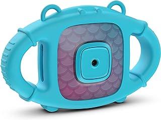 Kitvision 儿童防水数字动作相机带配件(支架、适配器和 4 GB Micro SD 卡),内置麦克风和可充电电池 - 透明/蓝色