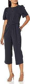 Amazon Brand - Lark & Ro 女式泡泡袖开领束腰连衣裤