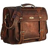 真皮邮差包男士公文包,皮革笔记本电脑包女式挎包